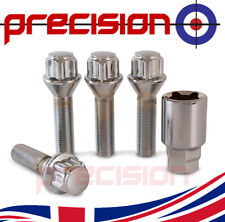 Mk3 16-19 Tuner Locking Wheel Bolts 12x1.25 Nuts Tapered For Citroen Dispatch