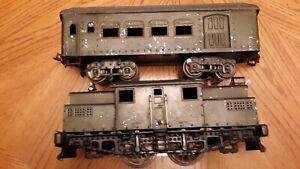 Vintage lionel Ives Railway Lines 3241 Engine 184 Coach Used