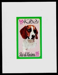 RAS AL KHAIMAH   SCOTT# 571 IMPERFORATE MINI-SHEET MNH  DOG TOPICAL