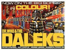 vintage retro daleks dr who movie poster metal sign tin wall door plaque gift a5