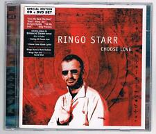 RINGO STARR CHOOSE LOVE CD + DVD F.C. COME NUOVO!!!