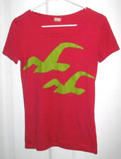 Juniors Small HOLLISTER Pink S/S T-Shirt Top Misses