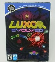 LUXOR EVOLVED PC CD-ROM GAME, MARBLE SHOOTER, 65 LEVELS, WIN XP/VISTA/7, MUMBO J