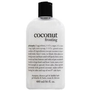 Philosophy Coconut Frosting Shampoo Shower Gel Bubble Bath 16 oz