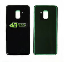 New Samsung Galaxy A8 2018 A530F Rear Glass Back Battery Cover Adhesive Black
