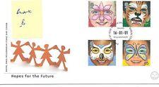 WBC. - GB-Primo giorno di Copertura-FDC-commems -2001 - faccia dipinti-U/A B PMK PB