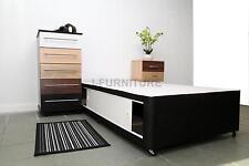 3ft Standard Single Divan Bed Base With Sliding Doors in Black Colour!