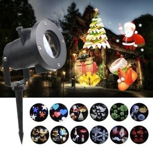 CHRISTMAS HOLIDAY LED LIGHT PROJECTOR WATERPROOF 12 PATTERNS