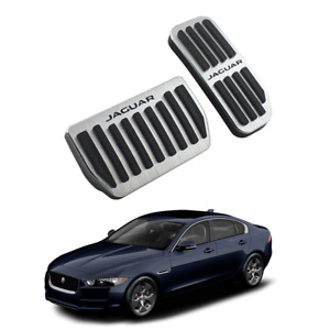 Aluminum Pedal Cover Non Slip Pad For Jaguar XE XF X F Pace 2015 2018 AT LHD RHD