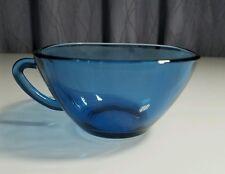 vintage vereco france mid-century retro eckig kaffee tee tasse becher blau