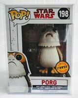Funko Pop Star Wars The Last Jedi Porg Chase Vinyl Bobble w/ Protector - MIB