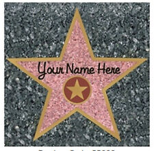 HOLLYWOOD WALK OF FAME STAR wall sticker 1 big decal ADD YOUR NAME sidewalk