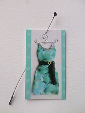 100 Boutique Price Tags Cute Dress Floral/Aqua Rebe'S Creations Self-Lock Loops