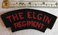 WW2 Military The Elgin Regiment Canada Shoulder Title Badge (2154)