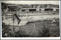 LÄGERDORF Holstein 1960 AK gelaufen Badeanstalt Motiv