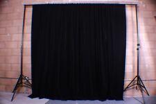 Black Velvet Custom Panel Drape 9W x 9H Photo Shoot Display Backdrop Curtain