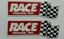 """Lot of 2 vintage RACE Proven, Inc.  Stickers decals  SIZE 7"""" X 2.5 """""""