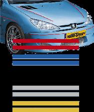 Black   2 + 2mm Double Coachline Tape Pin Stripe 975cm