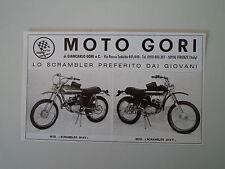 advertising Pubblicità 1974 MOTO GORI SCRAMBLER 50 4V/5V