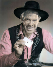 "LEE MARVIN THE MAN WHO SHOT LIBERTY VALANCE 1962 8X10"" HAND COLOR TINTED PHOTO"