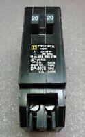 HOMT2020 Square D Tandem Circuit Breaker 20/20 Amp 1 Pole 120/240V NEW!