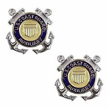 USCG Coast Guard Auxiliary Collar Device Member  1 PAIR NEW  (Made in USA)