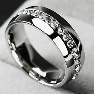 Men Women Couple Stainless Steel Wedding Ring Titanium Engagement Band Sz 5-13