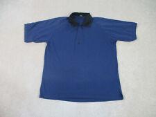 Jordan Polo Shirt Adult Extra Large Blue Black Jumpman Golfer Casual Mens A56*