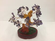6 Inch Purple Crystal Money Tree Feng Shui Natural Amethyst Quartz Gem Stone