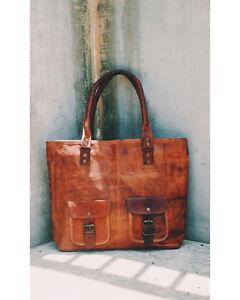Leather Satchel Shoulder Purse Tote Women Messenger Small Crossbody Bag handmade