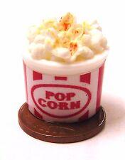 1:12 Scale Single 2cm x 1.4cm Full Popcorn Tub Dolls House Snack Food Accessory