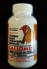 GALLOMIN 100 TAB FOR ROOSTERS/GALLOS PELEA - FREE SHIPPING!!!!