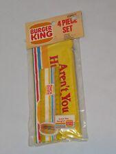 Vintage BURGER KING Pencil Pouch Eraser Sharpener Ruler NRFB 1982 (Q67