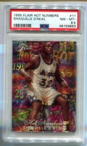 1995 Flair Shaquille O'Neal Hot Numbers #11 PSA 8.5 NM-MT+ HOF