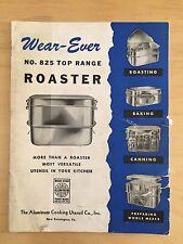 Wear-Ever No. 825 Top Range Roaster MANUAL PDF DOWNLOAD ONLY