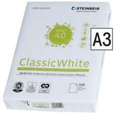 Recycling Kopierpapier A3 ! STEINBEIS CLASSIC WHITE 80g 2500 Bl Druckerpapier