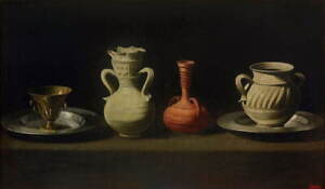 Francisco de Zurbaran Still Life with Four Vessels Poster Giclee Canvas Print