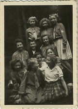 PHOTO ANCIENNE - VINTAGE SNAPSHOT - GROUPE FILLE SCOUT SCOUTISME JEANNETTE MODE