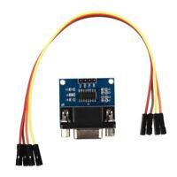 MAX3232 port serie RS232 Pour TTL Module Convertisseur connecteur DB9 W / 4 F4F3