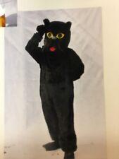 Mans Animal Lucky noir chat Mascot Costume Fancy Dress Costume Cosplay Larp