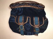 RARE Marc by Marc Jacobs Blue Corduroy Rose Floral Hobo Shoulder Bag Purse EUC
