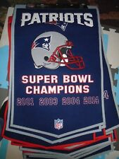 NEW England Patriots Dynasty Collection Wool Blend Team Banner Championship #2