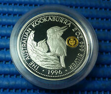 1996 Australia $2 Kookaburra 2 oz 999 Silver Proof Coin Privy Mark Spade Guinea