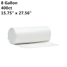 400 Strong 8 Gallon Commercial Kitchen Trash Bag 8 Gal Garbage Bag Yard Clear