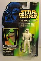 1996  Kenner Star Wars Stormtrooper - POTF 2 Green Card New & Sealed Figure MOC