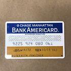 Vintage CHASE MANHATTAN Bank Americard VISA Credit Card
