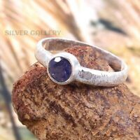Amethyst  Solid 925 Sterling Silver Ring , Handmade Ring Size - 9 R 181