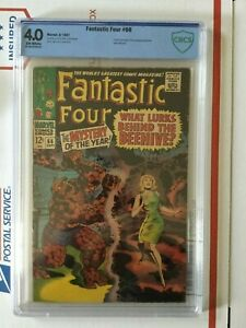 Fantastic Four 66_CBCS 4.0_like CGC_1st part orig. HIM (Adam Warlock)_OW pages