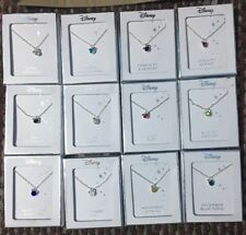 Licenced Disney Mickey Mouse Ears Silver Birthstone Necklace & Pendant Primark