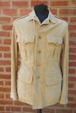 "Men's Gucci Sand Suede Leather Safari Jacket Eu 48 UK/US 38"""